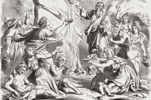 Moses-water-from-rock-Horeb